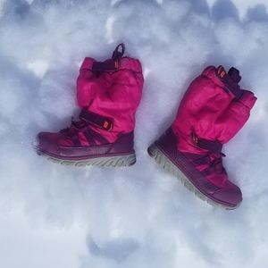 Stride Rite Pink Purple Snow Boots Toddler Size 7